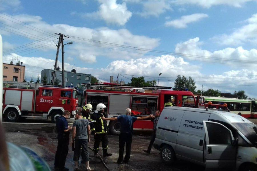 Pożar samochodu technicznego – Rokbus