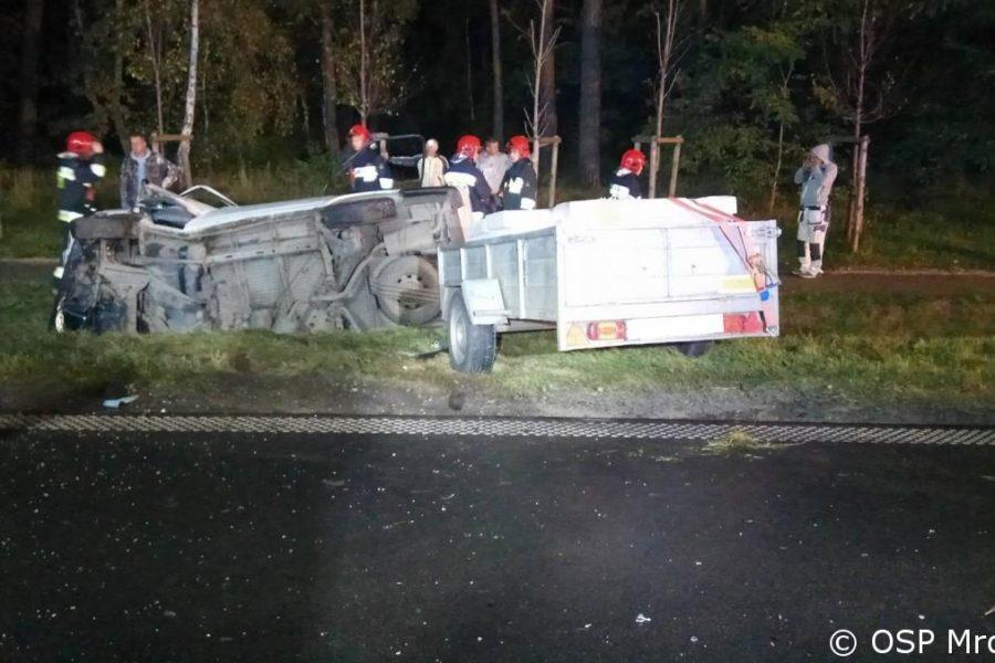 Poniedziałkowy wypadek na trasie Cerekwica-Pamiątkowo