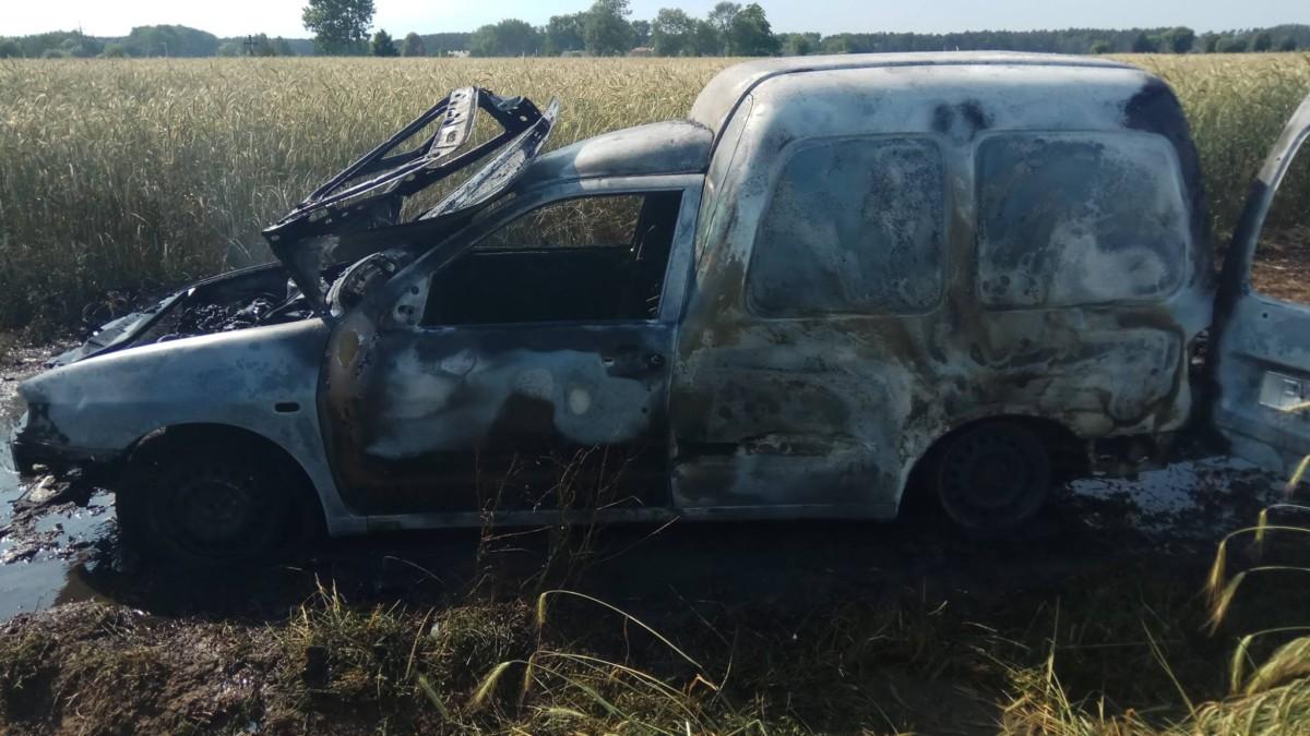 Pożar auta – Przecław