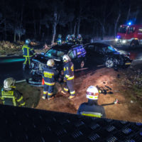 Wypadek samochodowy w Mrowinie - 21 luty 2019
