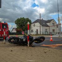 Wypadek na skrzyżowaniu w Mrowinie