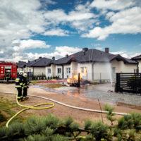 Pożar skrzynki gazowej - Krzyszkowo