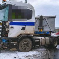 Wypadek w Mrowinie - 15.01.2021